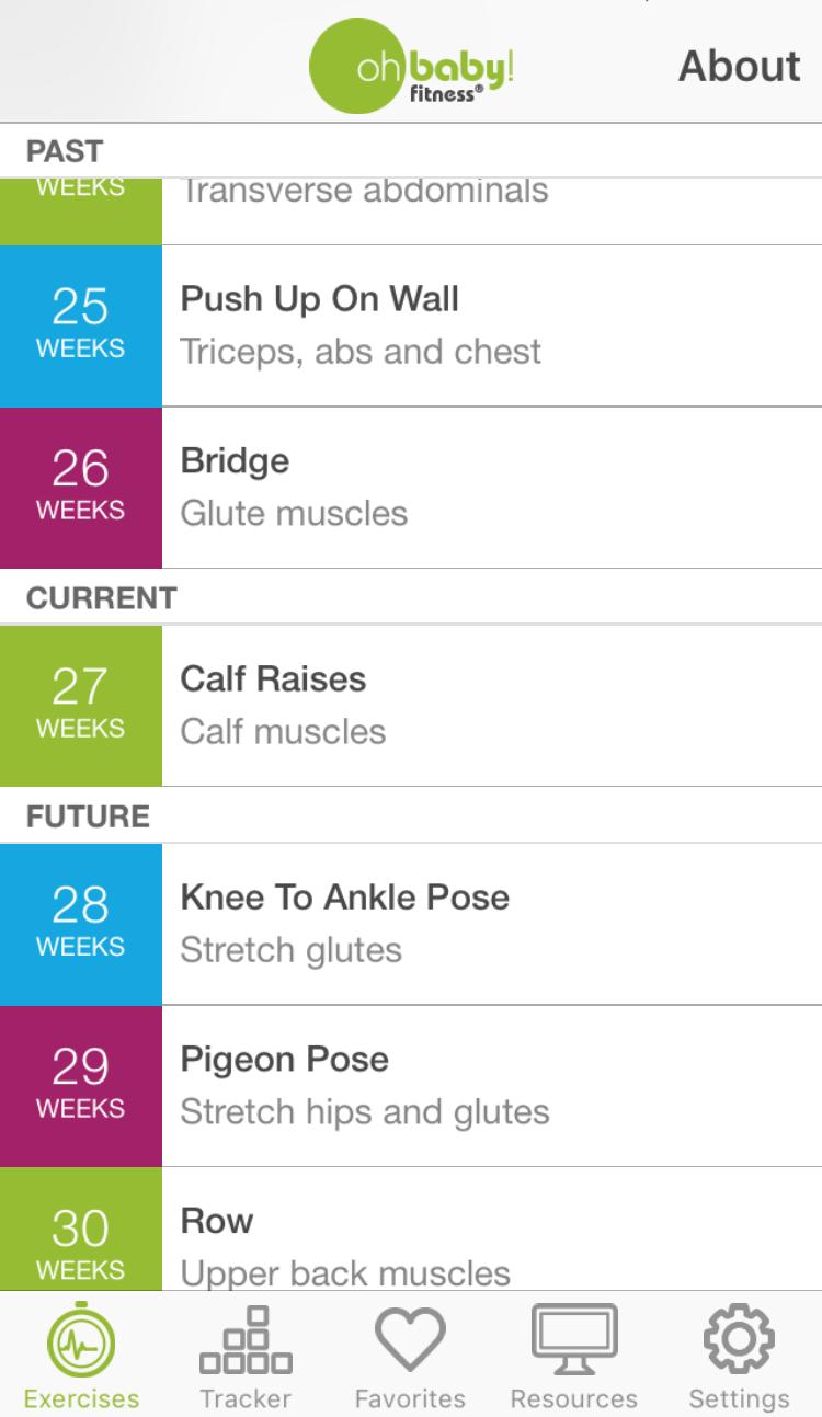 Oh Baby Fitness App