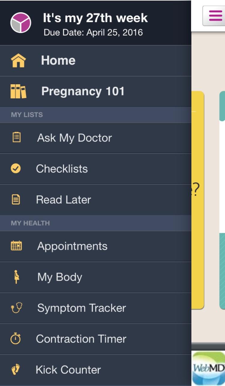 WebMD Pregnancy App