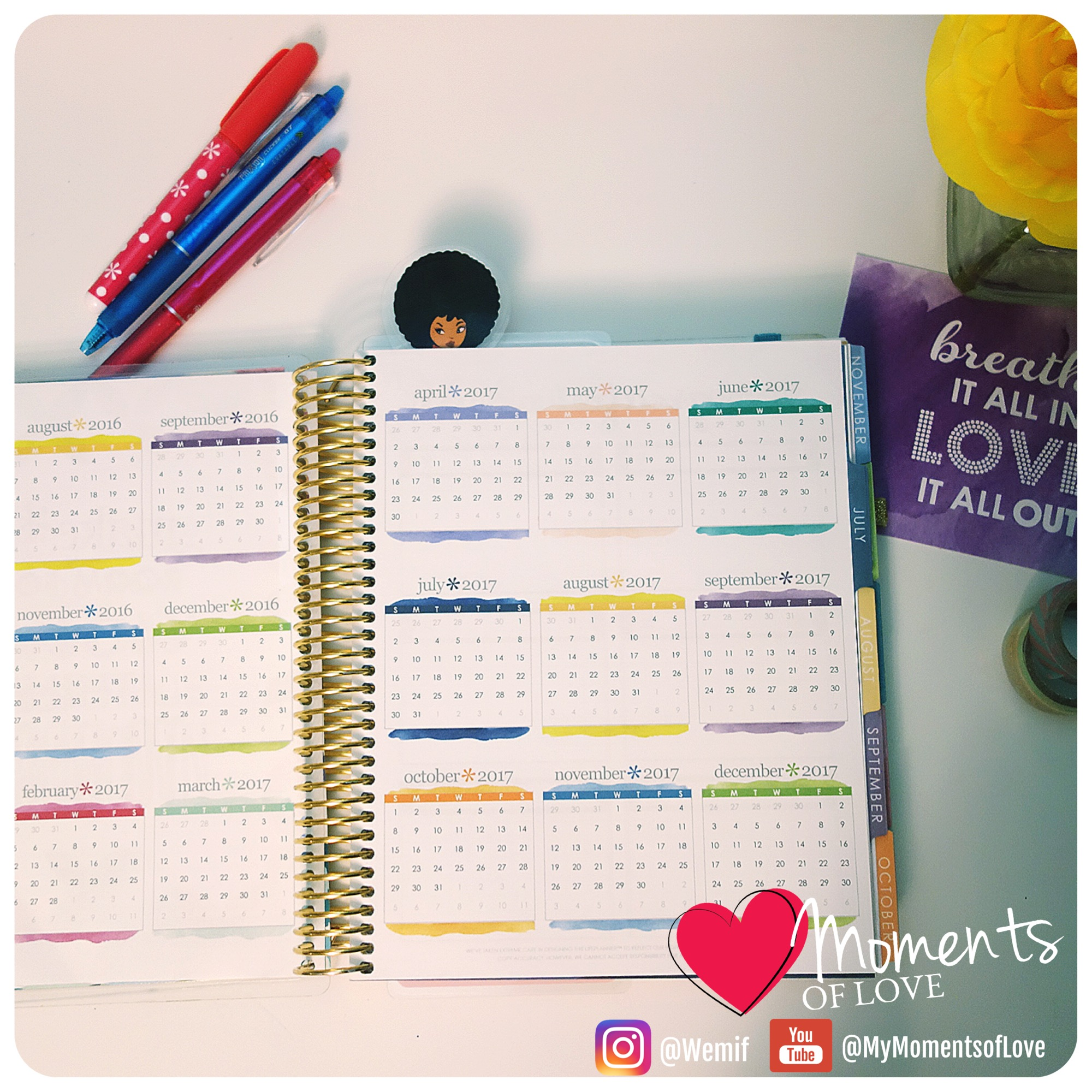 LifePlanner Year Reference